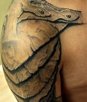armor tattoo shoulder